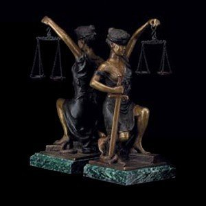 (Bey Berk Lady Justice Bookend)