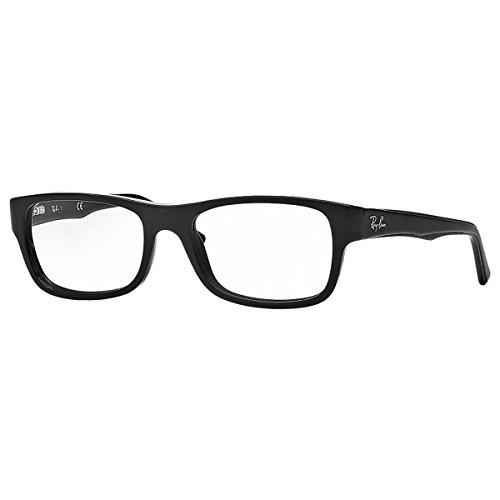 Ray-Ban RX5268 Rectangular Eyeglass Frames, Matte Black/Demo Lens, 50 mm