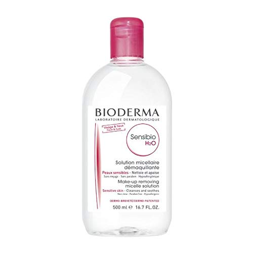 Bioderma Sensibio H2O Soothing Micellar Cleansing Water and Makeup Removing Solution for Sensitive Skin, Face and Eyes from Bioderma