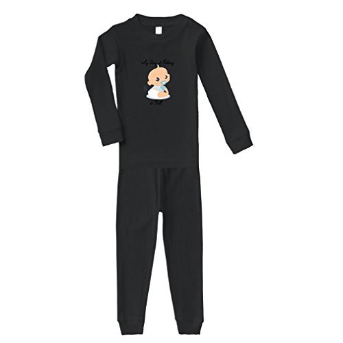 Cute Rascals My Bag of Holding is Full Cotton Long Sleeve Crewneck Unisex Infant Sleepwear Pajama 2 Pcs Set Top and Pant - Black, 5/6T by Cute Rascals