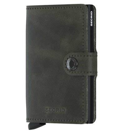 Secrid Miniwallet Vintage Olive Black Wallet SC5946