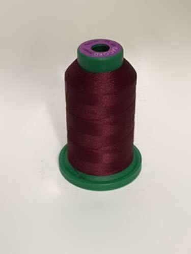 1000M Red Colors Isacord 40 Trilobal Polyester Embroidery Thread 40 wt