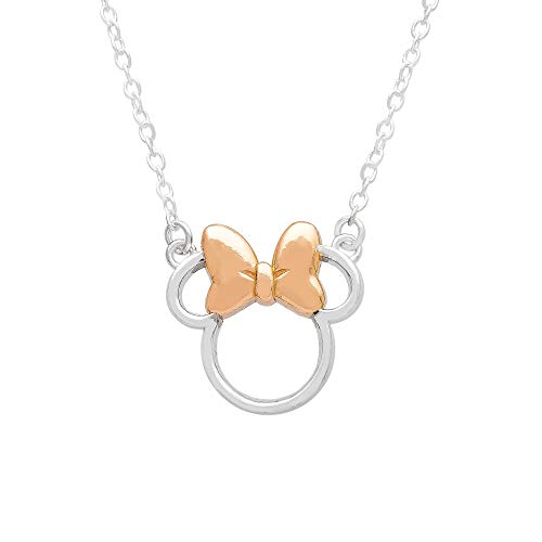 Disney Minnie Mouse Sterling Silver Silhouette Pendant Necklace, 18