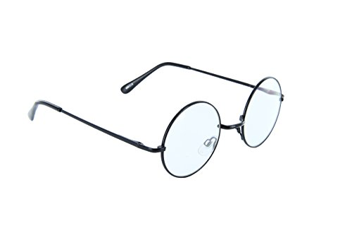 Small Circle Round Glasses Metal Frame Harry Porter Style (Black, - Glasses Frame Turtle