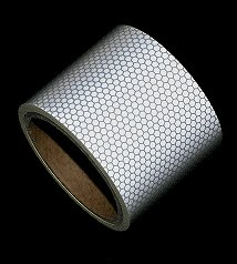 High Intensity Reflective Tape White and Silver 3''X5',Waterproof Self-Adhesive Glass Beads PET Tape-Reflective Tape for Trucks,Trailers,Cars-Conspicuity Tape-Cinta reflectante by Michel Production (Image #1)