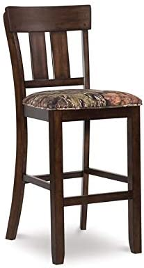 "Linon The Oak Nativ Living Wood 30"" Bar Stool in Brown"