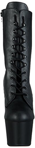 Blk 1020 Leather Adore Pleaser da Faux Matte Blk Donna Stivale Nero gzZwBFqZ5