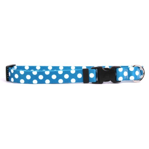 Yellow Dog Design Blueberry Polka Dots Lead, 3/8-Feet by 60-Feet