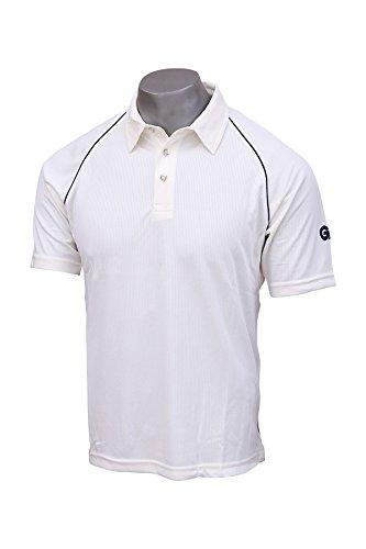 (General Motors GM GCAT5042 Polyester Cricket Shirt, Small (White/Navy))