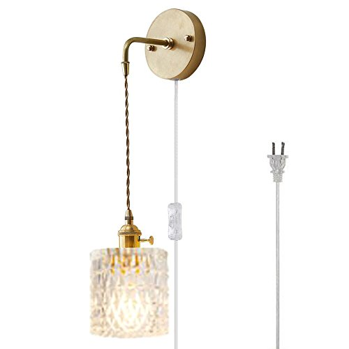 Kiven Antique Brass Down-Light Plug-in Wall Lamps,1-Llight ()