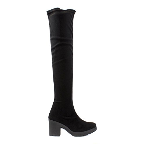 Lilley Womens Black Stretch High Leg Boot Black 01KhlEXUc