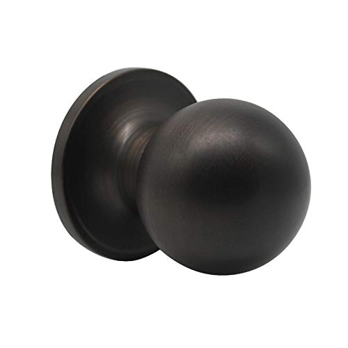 Probrico Dummy Door Knobs Door Locks Round, Half -Dummy Door Handles in Oil Rubbed Bronze
