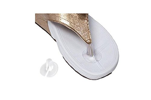 10Pcs Gel Silicone Thong Sandal Toe Protectors Clear Flip-Flop Sandal Toe Guards Cushions (A#)