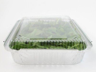 Disposable Aluminum 4 lb. Food Storage Pan with Clear Dome Lid #240P (250)