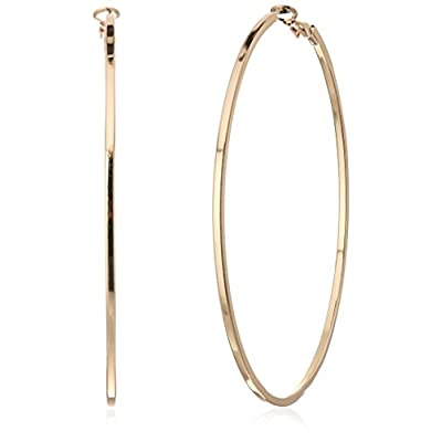 Cheap GUESS Basic Extra-Large Thin Hoop Earrings free shipping