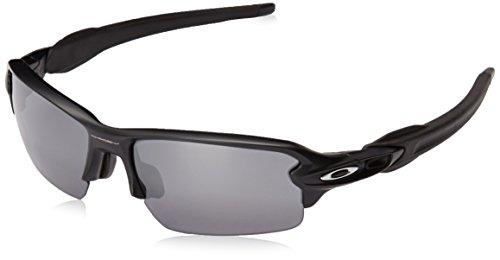 Oakley Men's Flak 2.0 Asian Fit OO9271-01 Rectangular Sunglasses, Matte Black, 61 - Glasses Asian Oakley Fit