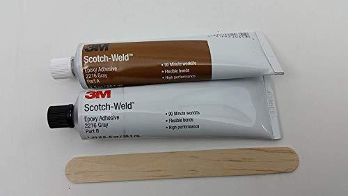 Gray Adhesive - 3M Scotch-Weld 2216 Epoxy Adhesive, 2 oz Tube Kit, Gray