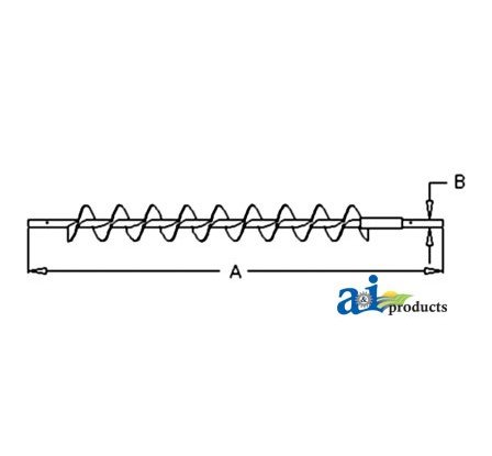 71147888 Auger Grain Conveyor Fits Allis-Chalmers Gleaner