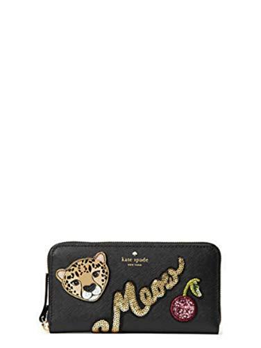 KATE SPADE Run Wild Leopard Neda Zip around Women's Leather (Signature Style Purse)