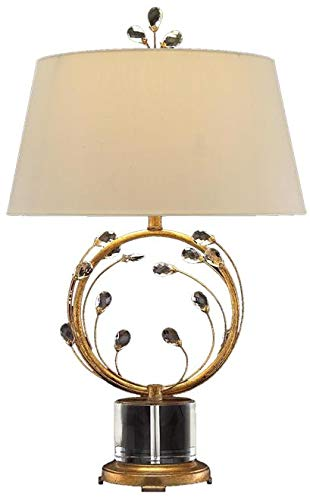 John Richard Table Lamp Oval Base Circular Arms Sweeping Upward Eggshell (John Lamp Table Iron)