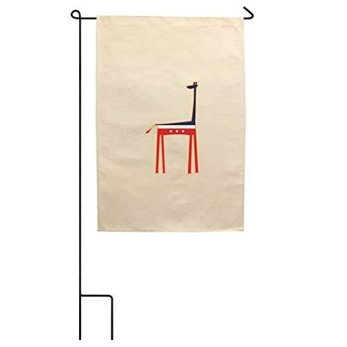 United States Giraffe Cotton Canvas Yard House Garden Flag Flag Flag Only 18