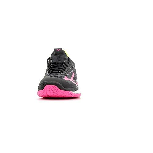 Wave Mirage Mizuno syellow 2 Chaussures pinkglo Femme Black q8HwxH4OU