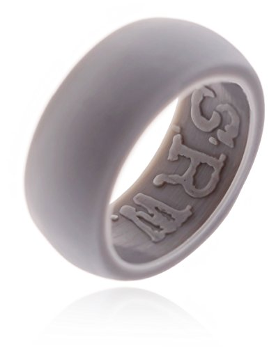 Flexible Silicone Wedding Ring in for Active Men PREMIUM Non Bulky Medical Grade Skin Safe & Comfort Fit Band +