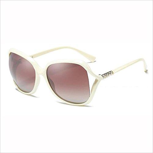Moda Small Box Light 5 de 1 Mujer Medium Gafas QZ HOME Round Rhinestone Color Face Hollow Polarized Elegante Sol Drive qY1Fw0Wt