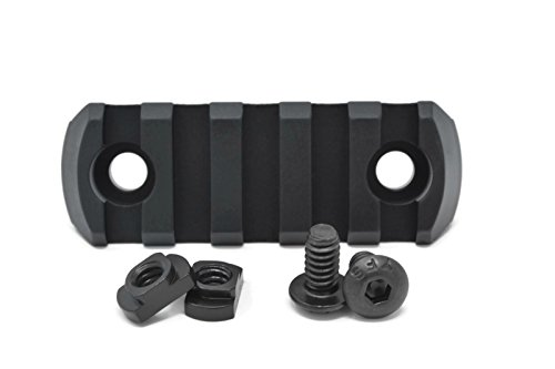 STNGR USA 5-Slot M-Lok Aluminum Picatinny Rail Section Accessory - Proudly Made In USA - Includes 2 T-Nuts & 2 Screws