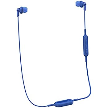 Panasonic Wireless Bluetooth in-Ear Headphones with Sound Mic Controller & Quick Charge Function Blue (RP-HJE120B-A)