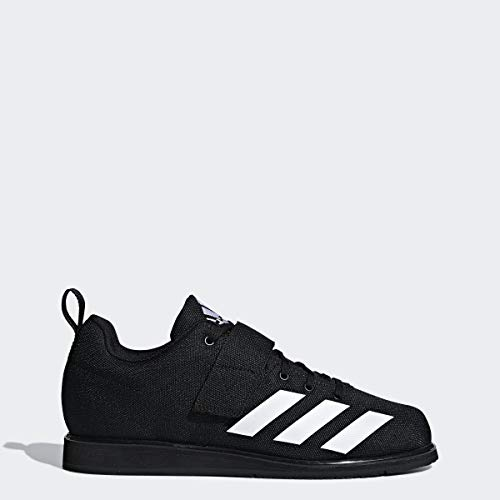 adidas Men's Powerlift 4 Weightlifting Shoe, White/Black, 10 M US (Best Shoes For Squats And Deadlifts)