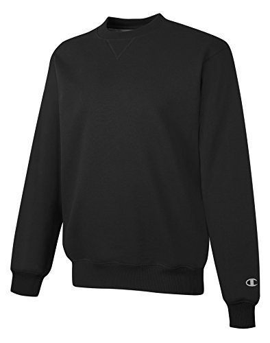 Plain Crewneck Sweatshirt (Champion Men's Max Crewneck Full Athletic Fit Sweatshirt, black, Medium)