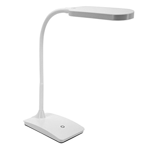 TW Lighting IVY-40WT The IVY LED Desk Lamp with USB Port, 3-Way Touch Switch, White (Lamp Led Usb)