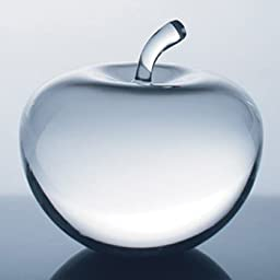 Optical Crystal Apple Paperweight - Desktop Gift