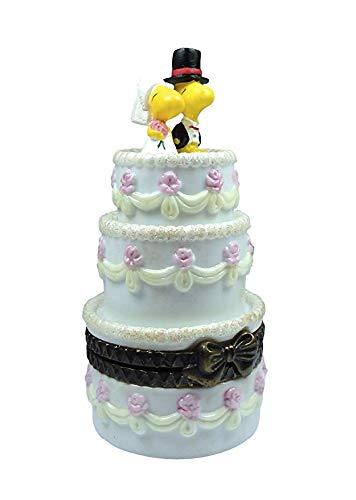 Hallmark Peanuts Gallery Lovebirds Woodstock Wedding Groom Bride Trinket Box QPC4038