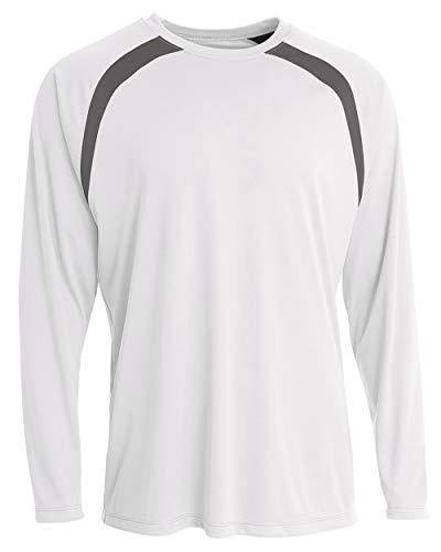 (Men's Long Sleeve Loose Fit Rash Guard Surf Shirt Water Sports Swimwear)
