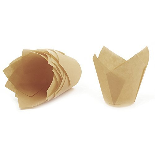Gold Tulip Baking Cups, Mini Size, Pack of 125 by Ecobake (Image #3)