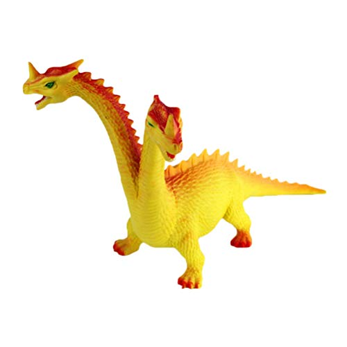 (Simulation Two-Headed Dinosaur Wild Animal Model Toy Educational Cognition Toy for Kids Children (Random Color, Random Pattern))