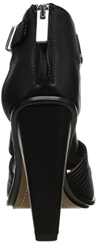 Dolce Vita Nicola Damen Schwarz Leder Kleid Sandalen Schuhe Größe Neu EU 40