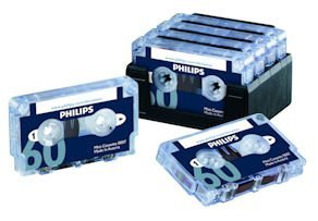 Philips LFH0007 10 Pack 60-Minute Mini Cassette Tape - 10-Pack