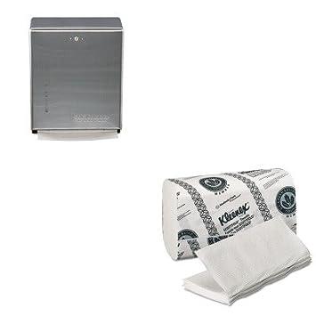 kitkim13253sjmt1900ss - Value Kit - Kimberly Clark KLEENEX Doblado toallas de papel (kim13253) y San Jamar Multifold/C-fold toalla dispensador (sjmt1900ss): ...