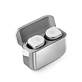 Master & Dynamic MW08 True Wireless Earphones (White Ceramic/Stainless Steel Case)