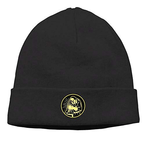 Riokk Az Skull Cap Beanie Knit Hats for Unisex Yellow Welder Welding Winter Daily