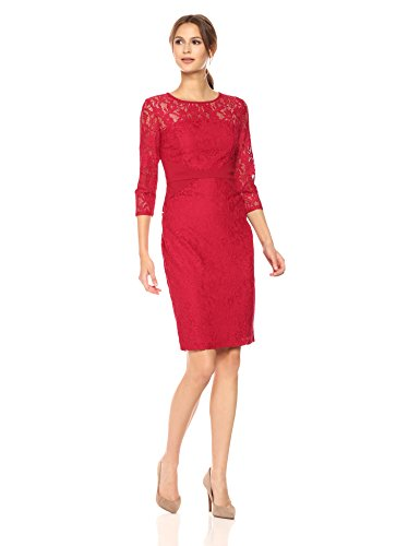 3 4 sleeve fitted dress - 3
