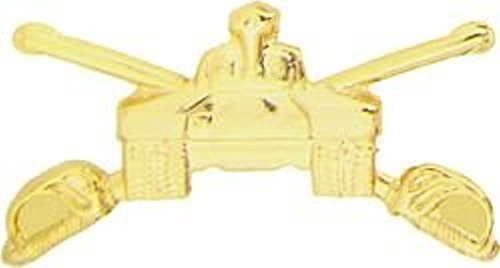 (Armored Tank Small Hat Pin with Crossed Swords)