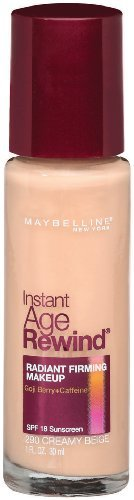 Maybelline New York Instant Age Rewind Radiant Firming Makeup, Creamy Beige 290, 1 Fluid Ounce (Pack of 2)