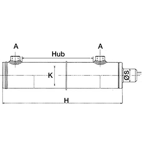 Hydraulikzylinder doppelwirkend; 99 Varianten Kolben/ø: 60mm // Stangen/ø: 40mm // Hub:250mm