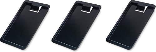 Carlisle 302003 Check Holder/Presenter & Tip Tray, Black (Case of 12) (3-(Pack))