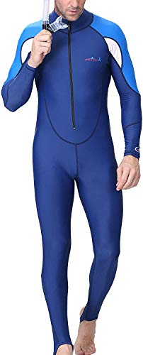 A Point Snorkeling Swimming Full Suit Bodysuit Wetsuit Swimsuit For Men/Women (L(165-170CM), men's -