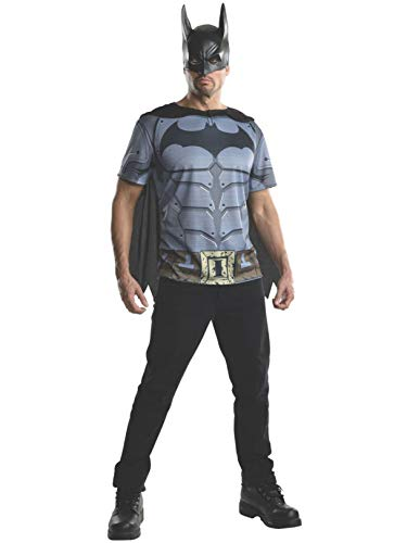 Rubie's Men's Batman Arkham City Adult Batman Top, Multicolor, Small -